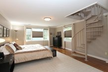 Master Bedroom - spiral staircase to attic closet
