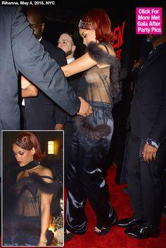 Met Gala After Party: Rihanna Flashes Sideboob, Suffers Nip Slip In Sheer Top