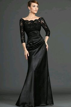 I like this for a mother of the bride dress :)
