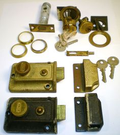 Vintage Antique Collection of Locks and Door Hardware Yale ~at It'sYourTurn