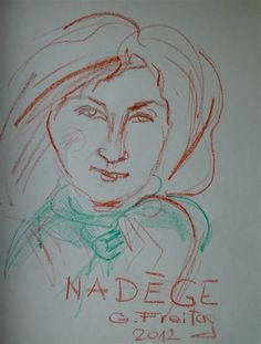 Nadége with green scarf, 2012 - Gazmend Freitag