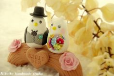Wedding Cake Topper-love bird with wood bridge by charles fukuyama, via Flickr - this is so cute!!