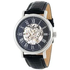 Stuhrling Original Men's 293.33151 Montague Mechanical Black Dial Watch Stuhrling Original. $89.00. Black crocodile-embossed genuine leather strap. Krysterna crystal (front and back). Water resistant to 50 meters/165 feet. Round polished stainless steel case. Black skeletonized dial. Save 76% Off!