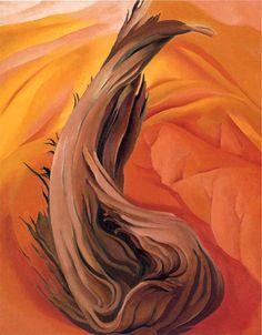 Tableaux sur toile, reproduction de O'Keeffe, Souche sur Red Hills