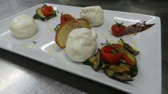 Burratine e caponatina di verdure