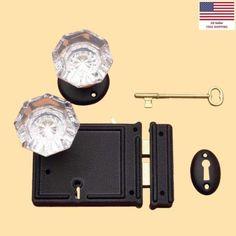 Black-Steel-Rim-Lock-Set-Glass-Knobs-Renovators-Supply