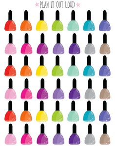 Nail polish stickers Erin Condren Stickers by PlanItOutLoud