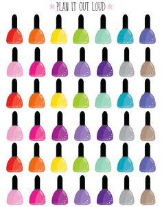 Nail polish stickers (Erin Condren Stickers)