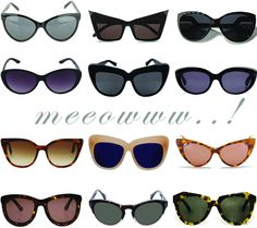 Cat eye sunglasses.