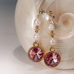 Pink love -  Ohrringe mit SWAROVSKI Elements und Perlen | Perlotte Schmuck