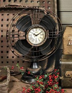 MINUTES BREEZE BY OLD FAN CLOCK @ Victorian Trading Co