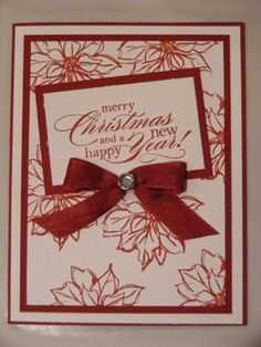 Christmas card, Watercolor Winter. All supplies Stampin' Up!