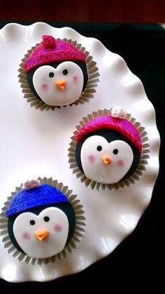 Butrcreamblondi: Penguin Cupcakes