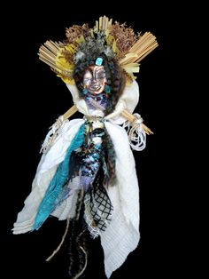 Spirit Doll, Ishtar, Goddess of the Star, Healing, OOAK Mixed Media, Assemblage FREE Ship US Artist Lili McGovern