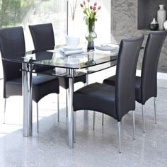 11 Glass Dining Tables To Make Your Dining Room More Stylish: Removing  Scratches From Glass Furniture Glass Dining Table