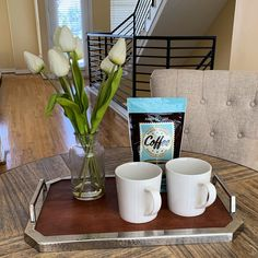Coffee Time Staging Vignette   Maritza Ortega 2019 Home Staging Companies, Continuing Education, Coffee Time, Declutter, Vignettes, Repurposed, Stage, Photograph, Simple