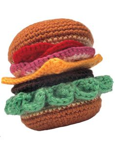 6. Favorite summer food: Hamburger with the Works (Pattern)
