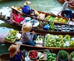 Immer einen Besuch wert - die berühmten schwimmenden Märkte  #taipan_thailand #thailand #bangkok