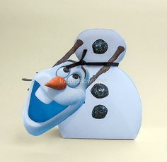 OLAF Frozen Gift Box Favor Box Printable for by IraJoJoBowtique