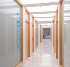 AA Clinic / equipoeme estudio #salas #madera #diseño #clinica #estética  #iluminación #microcemento