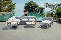 Zebra Belvedere loungeset rvs teak All weather Tuva Garden Furniture, Outdoor Furniture Sets, Outdoor Decor, Teak, Sofa Lounge, Showroom, Diy, Home Decor, Lounges