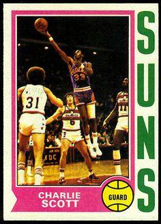 Phoenix Suns 1974 75 Topps Charlie Scott NMMT 35 Free Shipping   eBay