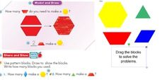 Go Math Grade 1 ch 12 SmartBoard Slides edition First Grade, Grade 1, Go Math, Qr Codes, Pattern Blocks, Easy Access, Homework, Infinite, Modeling