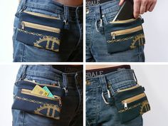 navy blue bike belt bag vegan print screen mountain waist bag cell phone covers hipster bag Bicycle Bike
