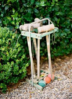 i think some of my friends played croquet at a wedding... would make for cute pics