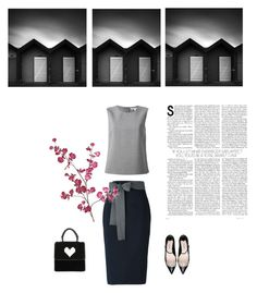 """pencil skirt"" by bodangela ❤ liked on Polyvore featuring Diane Von Furstenberg, Sofie D'hoore, Les Petits Joueurs, Miu Miu and Pier 1 Imports"