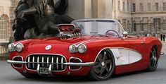 C1 Vette Resto-Mod Roadster. Awesome American Muscle Car!