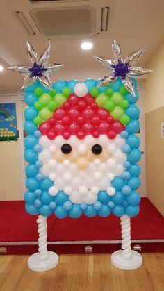 Balloon Arch Diy, Backdrops, Balloons, Santa, Display, Christmas, Ideas, Globes, Deserts