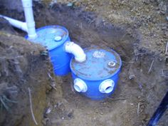 A frame cabin Central KY Small Septic Tank, Septic Tank Design, Diy Septic System, Septic Tank Systems, Off Grid Survival, Survival Food, Building A Wooden Gate, Grey Water System, Sodas