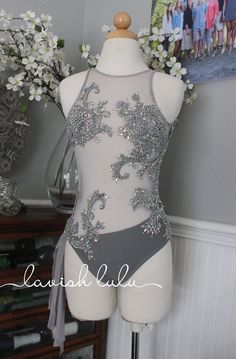 Gorgeous Light Gray Lyrical/Contemporary Dance Costumes by LavishLulu on Etsy Dance Costumes Lyrical, Girls Dance Costumes, Ballet Costumes, Dance Leotards, Dance Outfits, Dance Dresses, Competition Dance Costumes, Lyrical Dance, Party Dresses