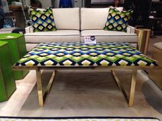 Taylor Burke Kelly brass cocktail ottoman in Salon at Market Square G7055 #hpmkt - Fabulous!