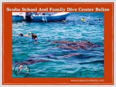 The Belize barrier reef is located within five minutes boat ride from our dive center, come check it out! #belize #scubaschoolbelize #padi #greatbluehole #ambergriscaye #travel #snorkeling #sanpedro #vacation