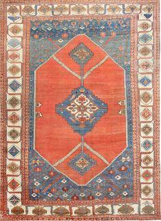 Large Antique Persian Bakshaish Carpet 47431 Main Image - By Nazmiyal