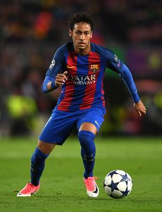 Neymar of Barcelona in action during the UEFA Champions League Quarter Final second leg match between FC Barcelona and Juventus at Camp Nou on April 19, 2017 in Barcelona, Spain.