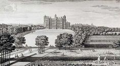Worksop Manor in the mid-18th century. This house was built in the late 16th century for the sixth Earl of Shrewsbury, and probably designed by Robert Smythson. The building was burnt down in 1761.