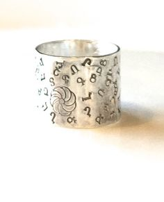 Armenian Alphabet Ring-Armenian Jewelry-Armenian Ring