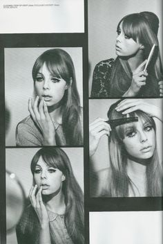 Gallery Update - Edie Campbell as Pattie Boyd for Lula - I absolutely love this shoot I worked on for the current issue of Lula Magazine. The story was based around a set of pictures Pattie Boyd did in the .a kind of beauty 'How To'. Twiggy also d Makeup Inspo, Makeup Inspiration, Beauty Makeup, Hair Beauty, Style Inspiration, Edie Campbell, Vintage Makeup, Vintage Beauty, 1960s Makeup