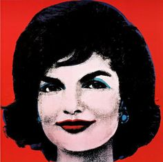 Jacqueline Kennedy in Red Jackie, 1964, by Andy Warhol #art #vintage