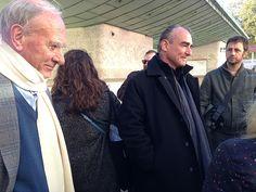Jean Van Hamme et Philippe Francq - See more at: http://blog.dupuis.com/exclu/largo-winch-voyage-de-presse-londres-6-nov-2014