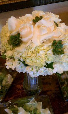 Succulents Hydrangea roses