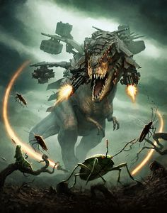 Its not that mythical but its a freaking t-rex with freaking machine guns attached to it!!!
