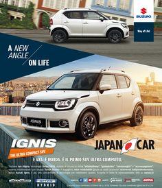 Sabato 21 e Domenica 22 Gennaio porte aperte da Japancar Rimini per ammirare la nuovissima #SuzukiIgnis, la 4x4 ibrida, il primo SUV compatto! Vi aspettiamo!  #suzukiitalia #suzukirimini #japancar #japancarrimini #porteaperterimini