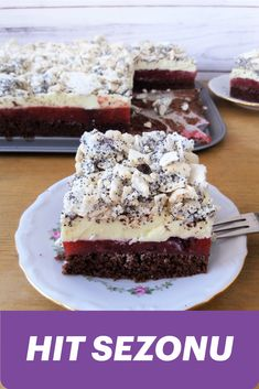 Sweets Cake, Tiramisu, Cheesecake, Food And Drink, Menu, Baking, Ethnic Recipes, Yeast Bread, Cook