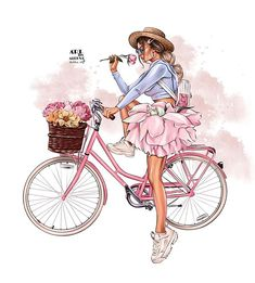 Cartoon Girl Images, Girl Cartoon, Cute Cartoon, Cartoon Art, Tableau Design, Illustration Art, Illustrations, Cute Girl Drawing, Cute Girl Wallpaper