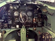Cockpit of Supermarine Spitfire Mk. The Spitfires, Supermarine Spitfire, Royal Air Force, Fighter Aircraft, Military Aircraft, World War Two, Design, World War Ii
