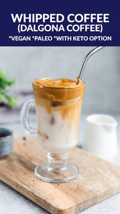 Whipped Coffee is a popular Korean coffee known as Dalgona coffee made with just 3 ingredients. This delicious beverage has taken over the coffee world and through a viral TikTok video that shows how Fruit Smoothies, Smoothie Recipes, Korean Coffee, Easy Coffee, Coffee Coffee, Type Of Coffee, Coffee Beans, Breakfast Recipes, Dessert Recipes